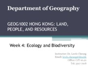 Lecture slides on Ecology and biodiversity