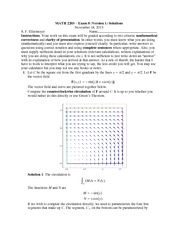 Exam 8 Version 1 Solutions