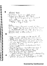 Semester notes - 2 different sets