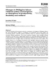 2014. Sale and Sale. Changes in PH labour relations policy.pdf