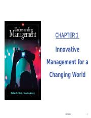 Chapter 1- Innovative Management for a Changing World - Preliminary.pptx