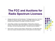 Lecture 10 The FCC and Spectrum Auctions