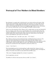Portrayal of Two Mothers in Blood Brothers.docx