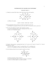 Questions for Exercise 3 on Graphs and Networks
