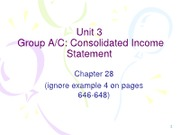 Unit 3 - Consolidated IS