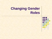 Changing Gender Roles NOTES
