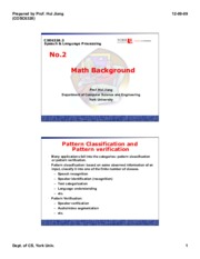 CSE 6328 Math Background