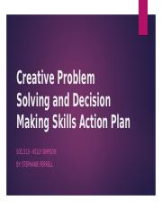 Creative Problem Solving and Decision Making Skills Actionpp.pptx