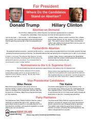 WHERE HILLARY AND DONALD STAND ON LIFE ISSUES.pdf