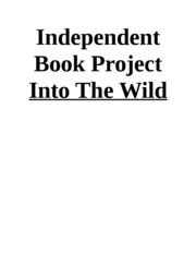 Independent Book Project Into The Wild