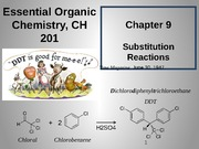 Chapter 9 - Substitution Reactions