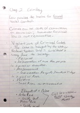 CJ 323 Chapter 2 Notes