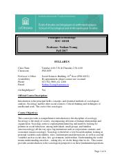 Syllabus for Section B (SOC1101)