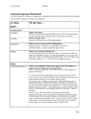 122 Classical Argument Worksheet 1