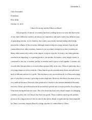 China and Brazil Essay