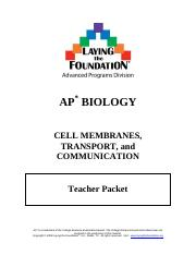 Cell Membrane:Transport:Communication