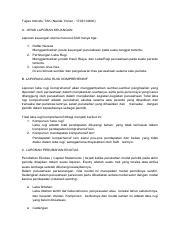 Jenis Laporan Keuangan Docx Pertanyaan Sebutkan Dan Jelaskan Jenis U2013 Jenis Laporan Keuangan Jawaban 1 Daftar Neraca Menggambarkan Posisi Keuangan Course Hero