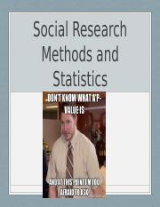 Research MEthods and Stats