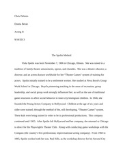 Spolin acting method paper