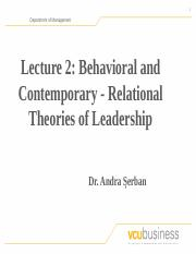Lecture 2 - Behavioral and Relational Theories of Leadership (1).pptx