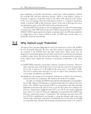 Optical Networks - _9_4 Why Optical Layer Protection_109