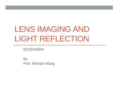 ECE504-1-Lens Imaging and Reflection.pdf