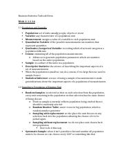 Business Statistics Texbook Notes