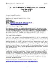 CSCI E-31 Syllabus Spring2018 pdf - CSCI-E31 Introduction to