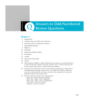 Appendix Q - Answers to Odd-Numbered Review Questions