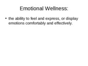 emtional wellness and stress (Sep 19)
