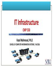 1. Introduction to IT Infrastructure