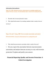 Lecture Financial Reporting Quality and Investor Protection--A Global Investigation 25 Oct 08