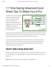 11 Time Saving Advanced Excel Tips To Make You Pro _ Fuel SEO Blog.pdf