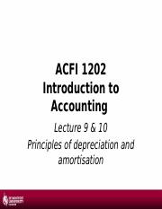 1617 - Lecture 8 - aPrinciples of Depreciation and Amortisation.pptx