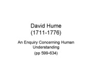 Hume - An Enquiry Concerning Human