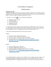 Larson and Richardson Library Module 4.2.2 Assignment 1.docx
