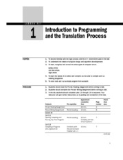 Lesson 1 Introduction to Programming and the Translation Process