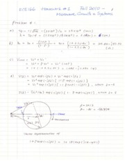 ECE166 Homework 1 Fall 2010 Solutions