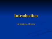 Lecture1 - Introduction