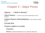 Chapter 2 - Major Points