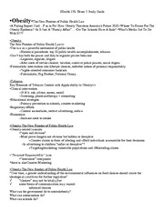 Health 130 Exam 3 Study Guide