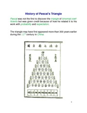History of Pascal's Triangle