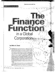 The+Finance+Function+in+a+Global+Corporation