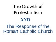 22 -Protestantism and Catholic Response