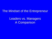 The Mindset Of The Entrepreneur