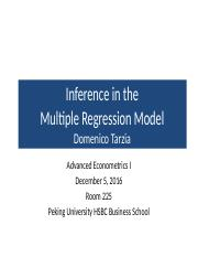 Eight_Lecture_December_5_2016_Inference_In_The_Multiple_Regression_Analysis_Inference_Quant.pptx