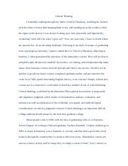 critical thinking essay