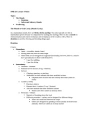 NPB 114 Lecture 4 Notes