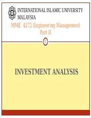 MME 4272 S21617 INVESTMENT ANALYSIS