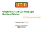 CS-6360_ch09 ER and EER Mapping
